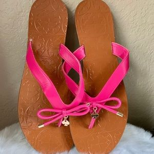 Kate Spade hot pink leather strap sandals